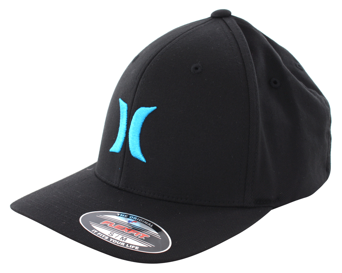 ONE AND ONLY BLACK WHITE FLEXFIT Cap 2016 black/cyan