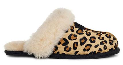 Ugg Scuffette Ii Calf Hair Hausschuh 2017 Leopard o8vOmv