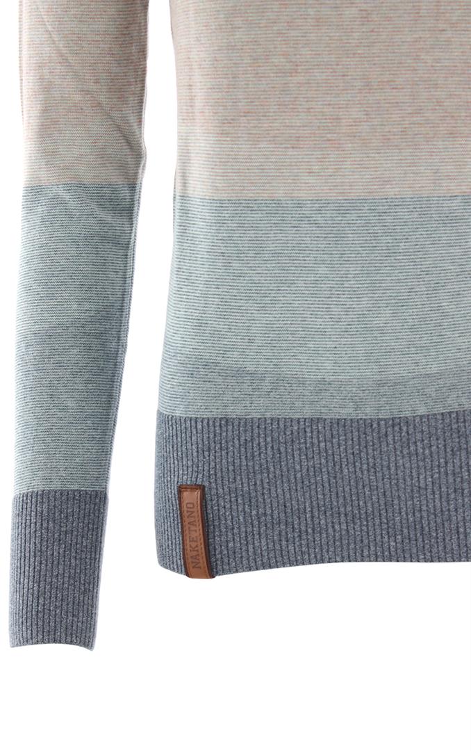 Naketano Female Knit Joao Schmierao Bluegrey Melange Striped
