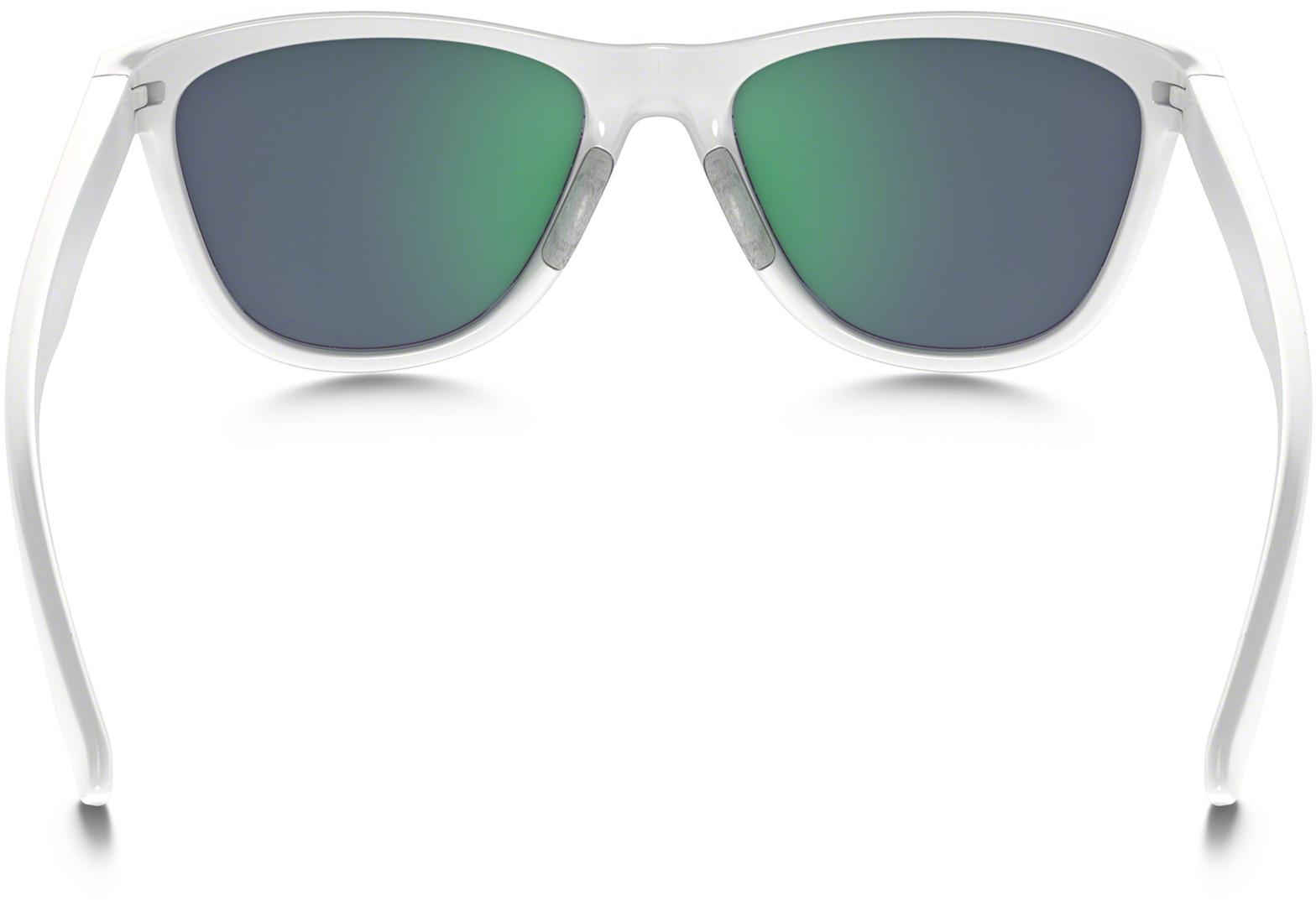 Oakley Moonlighter Sonnenbrille Polished White/Jade Iridium FbSF7P