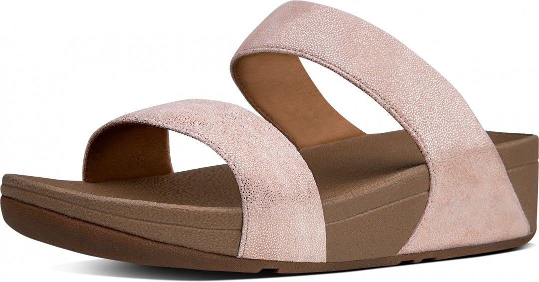 fitflop shimmy suede slide sandale 2018 rose gold warehouse one. Black Bedroom Furniture Sets. Home Design Ideas