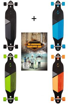 SOLITARY LTD Longboard inkl. Longboard Schulungs-DVD