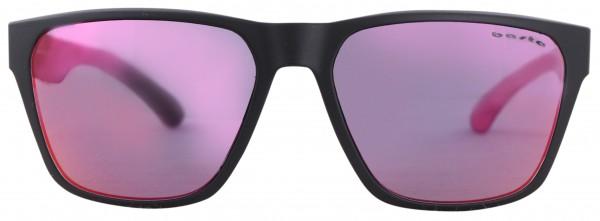 KONZY Sonnenbrille black matte/purple red mirror