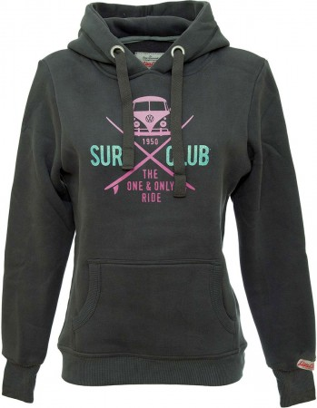 SURF CLUB WOMENS Hoodie 2019 black pink
