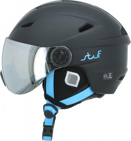 VISOR JR Helm 2020 black/blue