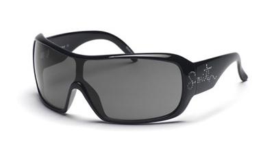 DOMINO Sunglasses black with strass/grey