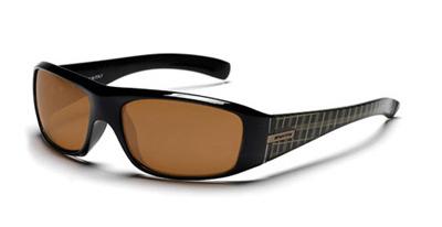EFFECT Sonnenbrille black gold plaid/brown