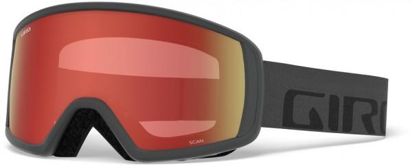 SCAN Schneebrille 2020 grey wordmark/amber scarlet