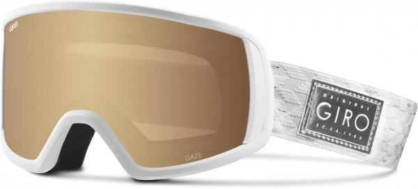 GAZE Schneebrille 2020 white silver shimmer/amber gold