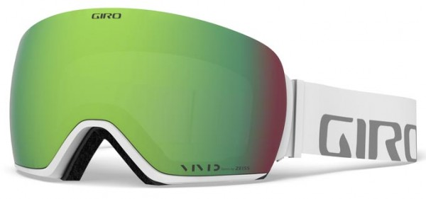 ARTICLE Schneebrille 2020 white wordmark/vivid emeral + vivid infrared