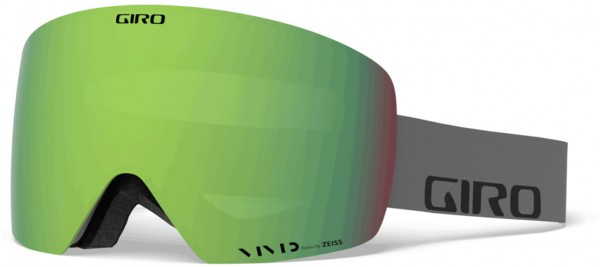CONTOUR Schneebrille 2021 grey wordmark/vivid emerald + vivid infrared