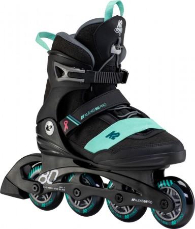 ALEXIS 80 PRO Inline Skate 2021 black/teal