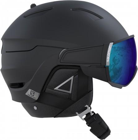 DRIVER+ Helm 2020 black/silver/blue solar