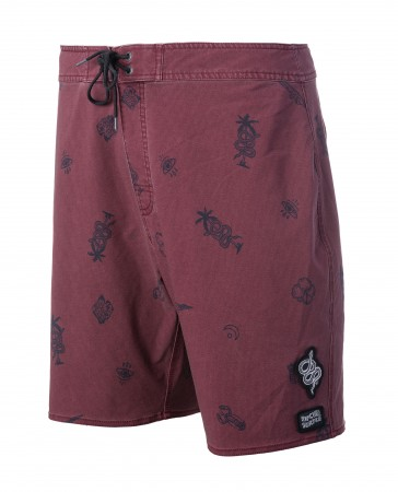 MIRAGE FLASH 18 Boardshort 2019 red