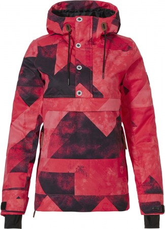 FRIDA-R Jacke 2021 graphic mountains red pink