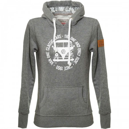 BULLI FACE USED VW BULLI WOMEN Hoodie 2019 dark grey white