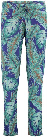 EASY BREEZY PRINT Hose 2017 blue aop/green