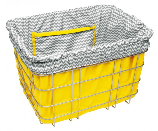 BASKET LINER yellow/grey zigzag