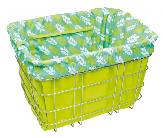 BASKET LINER green/leaves