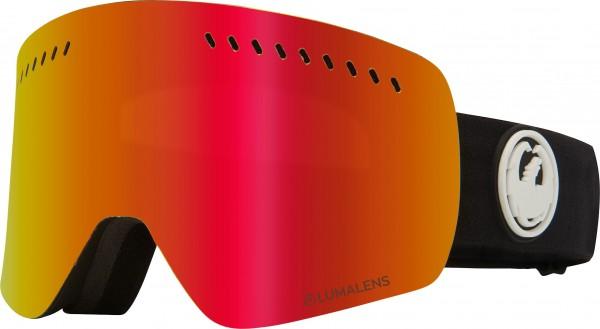 NFXS Goggle 2020 black/lumalens red ionized + lumalens rose