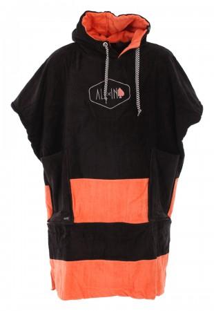 V FLASH Poncho 2020 black/coral