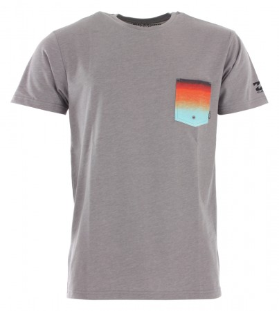 TEAM POCKET SS SURF Shirt 2019 grey heather