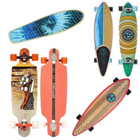 Longboard Komplett Board Cruiser Skate Drop Through Down Komplettboard A