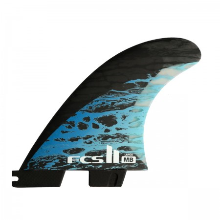 II MATT BIOLOS PC CARBON THRUSTER Fin Set 2020 blue