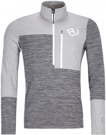 FLEECE LIGHT ZIP NECK Sweater 2022 grey blend