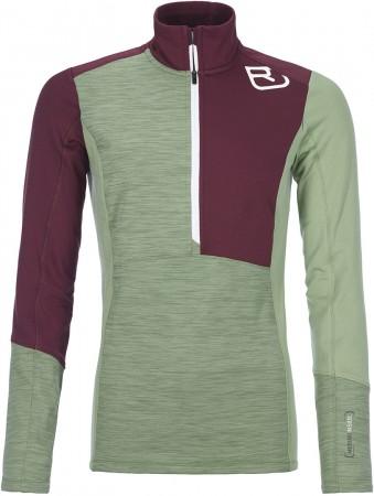 FLEECE LIGHT ZIP NECK WOMEN Sweater 2022 green forest blend