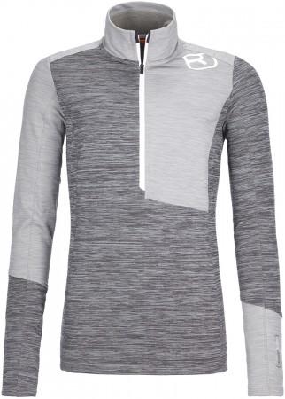 FLEECE LIGHT ZIP NECK WOMEN Sweater 2022 grey blend
