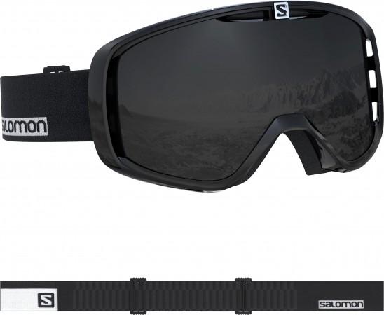 AKSIUM Schneebrille 2020 black-white/solar black