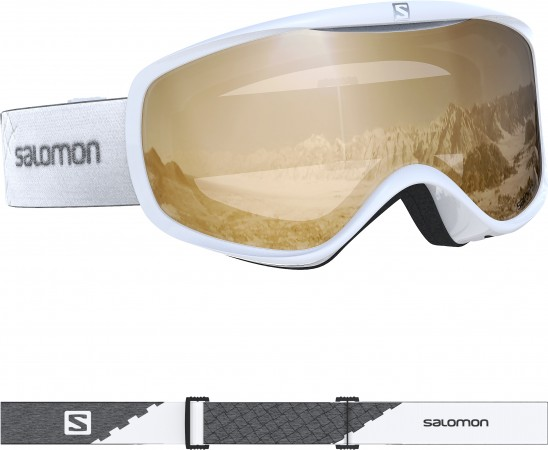 SENSE ACCESS Schneebrille 2020 white/uni tonic orange