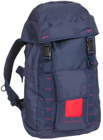 LASSE Backpack navy/red