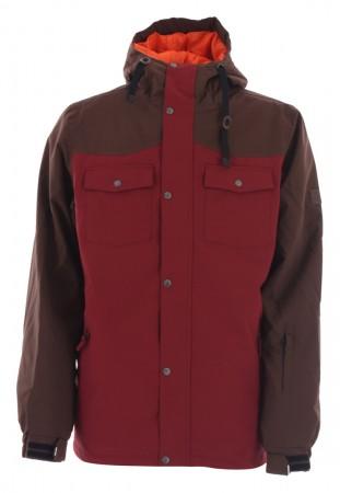 STANLEY Jacket 2020 dark brown/burgundy