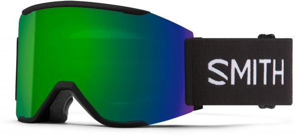 SQUAD MAG Schneebrille 2021 black/chroma pop sun green mirror