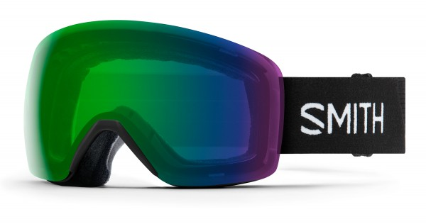 SKYLINE Schneebrille 2020 black/chromapop everyday green mirror