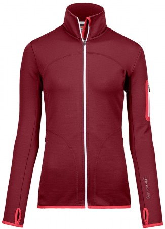 FLEECE WOMEN Jacket 2019 dark blood