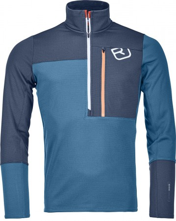 LIGHT ZIP NECK Fleece 2020 blue sea