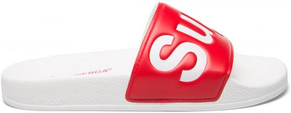 1908-PUU SLIDES PVC Sandale 2020 white/red