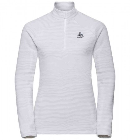 ALBULA 1/4 ZIP WOMEN Fleece 2019 silver grey/white