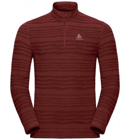 ALBULA 1/4 ZIP Fleece 2019 syrah