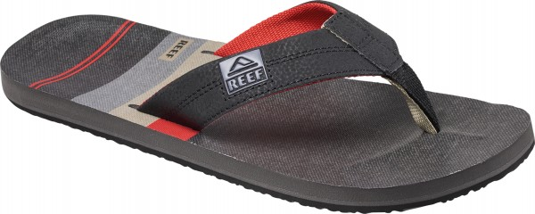 HT PRINTS Sandale 2018 black/red/stripes