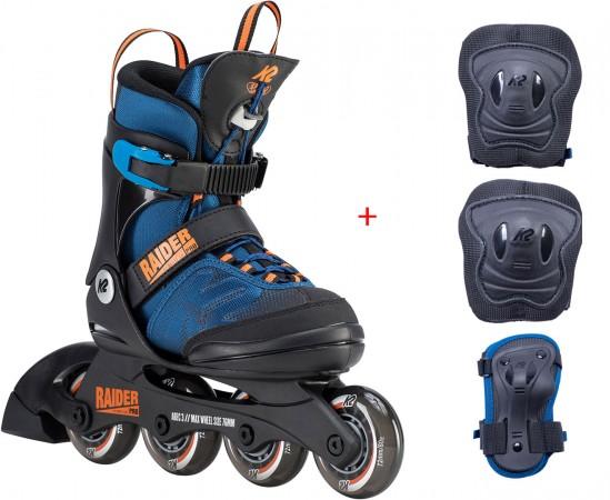 RAIDER PRO Kinder Inline Skate 29-34 inkl. RAIDER PRO Schonerset