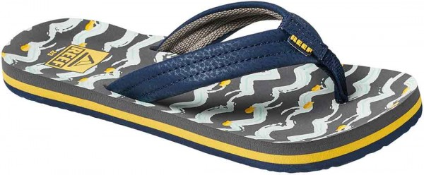 LITTLE AHI Sandal 2019 navy yellow fish