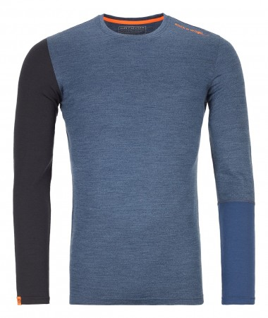 MERINO 185 ROCK N WOOL Longsleeve 2020 night blue blend