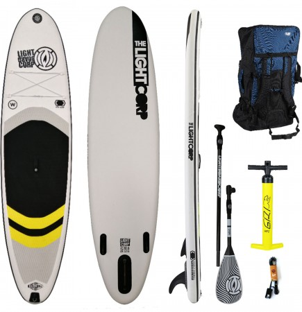 SILVER ALLROUND 10,6x32 SUP 2021 yellow inkl. 3-Piece Carbon Paddel