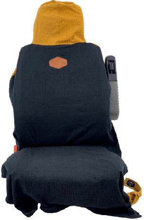 WAFFLE SEAT COVER 2021 black waffle/ocre waffle