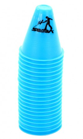SLALOM DUAL DENSITY Cones 20 Pack blue