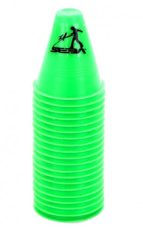 SLALOM Cones 20 Pack green